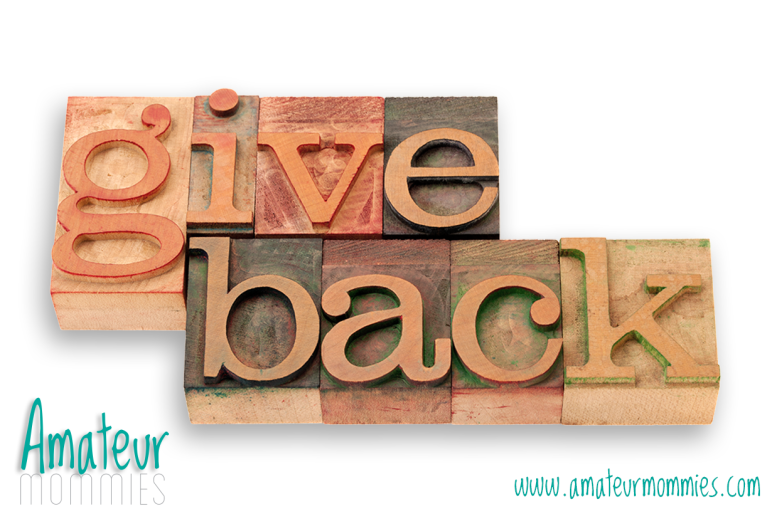 Amateur Mommies: give back to for they'll move mountains